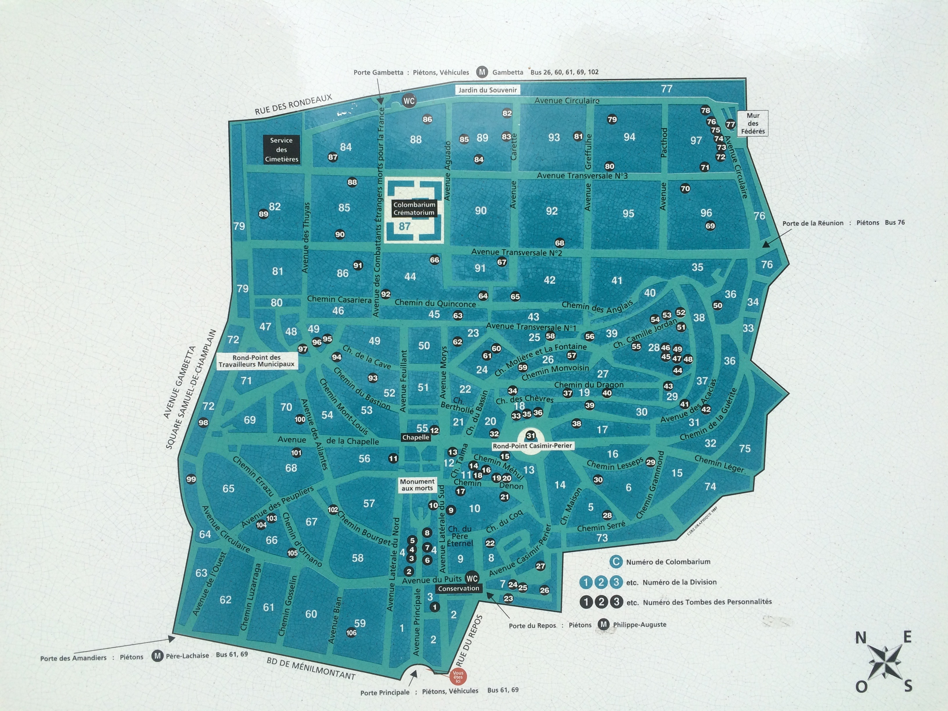 5037 mapa Père Lachaise - 1