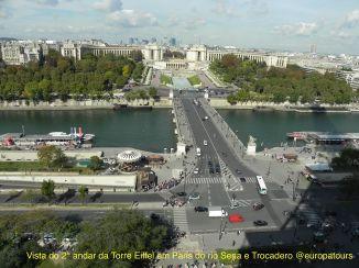 vista da TE do rio Sena e Trocadero